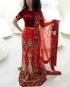 Kiralık Hint Elbisesi Kırmızı